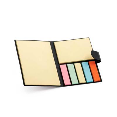 qualy-brindes - Caderno. Cartão. 7 blocos adesivados: 25 folhas cada. 80 x 105 x 9 mm