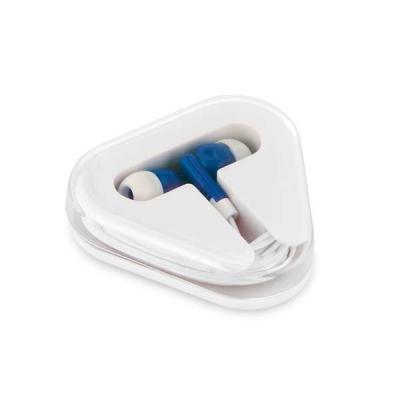 Brindes Qualy - Fone de ouvido. Cabo de 1,25 m com ligação stereo 3,5 mm. Fornecido em caixa de PS/ABS. Caixa: 60 x 64 x 16 mm