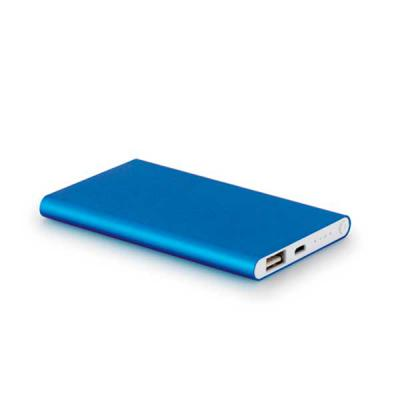 Bateria portátil slim. Alumínio. Bateria de lítio. Capacidade: 4.400 mAh. Tempo de vida ≥ 5...