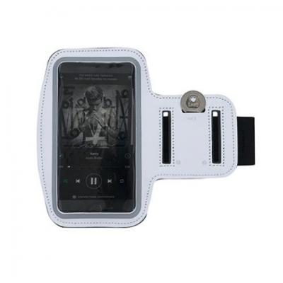 qualy-brindes - Braçadeira porta celular em neoprene, tamanho 16cmx48cm para celular até  07 polegadas, gravação em tampografia.