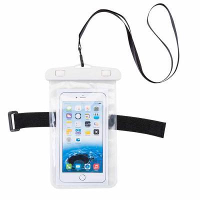Capa a prova de agua para celular, fabricado em PVC, o material é flexível, transparente e não tira a sensibilidade ao toque. Compatível com todos os... - Qualy Brindes