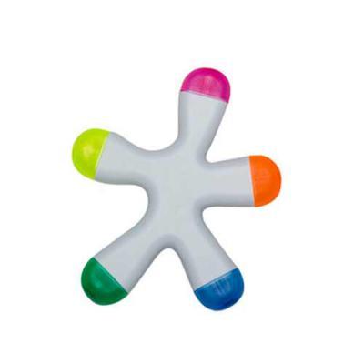 qualy-brindes - Caneta marca-texto com 5 cores