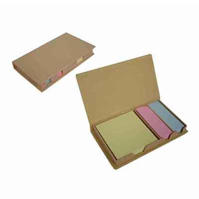 Qualy Brindes - Bloco para anotações com  stick-notes. Personalização em Tampografia