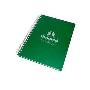 Qualy Brindes - Caderno 18X25 cm capa dura com acabamento em wire-o.