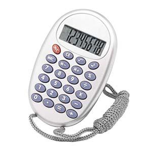 qualy-brindes - Calculadora oval com cordão
