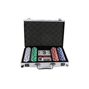 Qualy Brindes - Jogo de Poker com 200 fichas e maleta aluminizada
