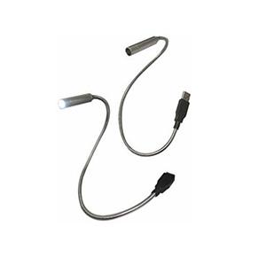 Qualy Brindes - Lanterna LED com USB e cabo metálico
