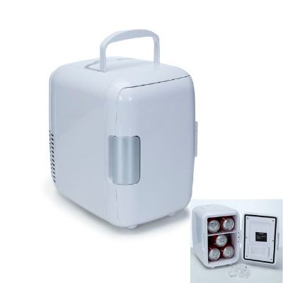 Qualy Brindes - Mini geladeira para até 5 latas de 330 ml.