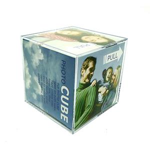 qualy-brindes - Porta-retrato cubo em plástico transparente