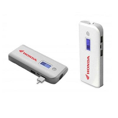 Qualy Brindes - carregador portátil Power Bank, 4 baterias internas e visor digital, carregamento via USB / Micro USB