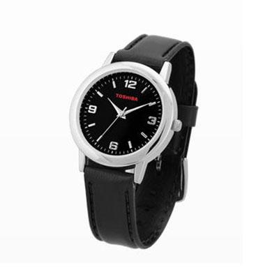 Qualy Brindes - Relógio de pulso com pulseira  de couro sintético, garantia de 1 ano, com estojo individual. Personalização: Tampografia