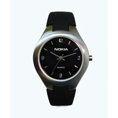 Relógio redondo esportivo com pulseira de borracha - Brindes Qualy