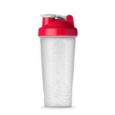 Brindes Qualy - Coqueteleira de plástico resistente para academia, capacidade para 400 ml, com porta suplementos, porta comprimido e peneira, gravação em tampografia.