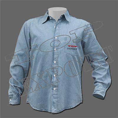 585d65c588 Camisa jeans leve 5.0z masculina manga longa
