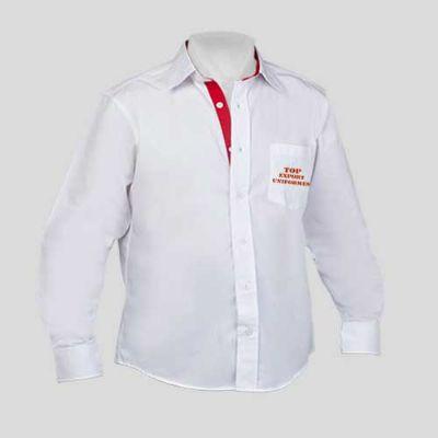 Top Export Uniformes - Camisa social masculina manga longa em tecido Toyobo Worker Plus,67% poliéster e 33% algodão.