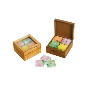 Ar Artefato de Madeira - Caixa confeccionada em madeira MDF para guardar chás com visor transparente. Ofereça a seus clientes um produto com excelente qualidade com charme e e...