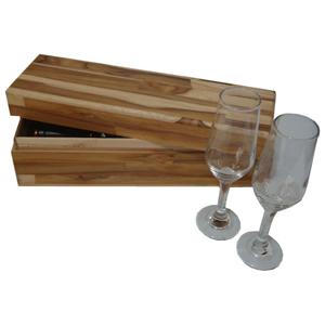 Ar Artefato de Madeira - Estojo personalizado, confeccionado com painel teka certificado com tampa. Com aparência rústica este estojo é ideal presentear clientes e parceiros.