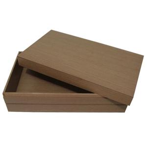 Ar Artefato de Madeira - Estojo personalizado,  confeccionado em madeira MDF de carvalho malva com tampa de encaixe. Seus clientes lembrados com sofisticação e elegância.