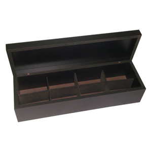 Ar Artefato de Madeira - Estojo personalizado, confeccionado em MDF revestido de preto com oito divisórias e tampa. Sua marca em evidência em um produto de alta qualidade e du...