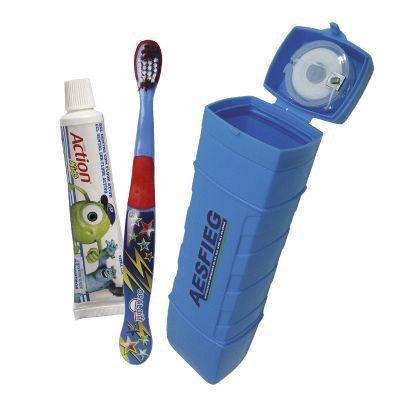 Oral Gift - Kit higiene bucal infantil personalizado pop 4x1.