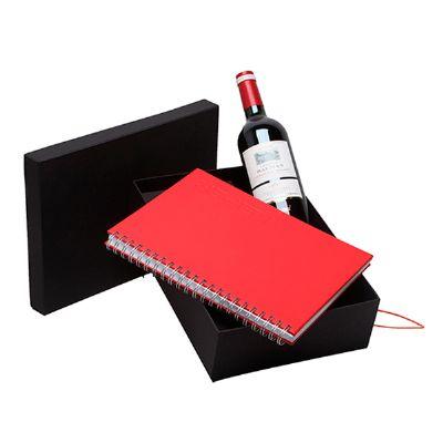 Donare Presentes - Kit caderno e vinho
