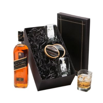Donare Presentes - Kit Whisky Johnnie Walker Black Label