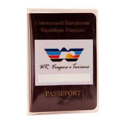 PVChic - Porta-passaporte. Confeccionado em costura eletrônica. Em laminado de PVC. Personalizável em silkscreen.