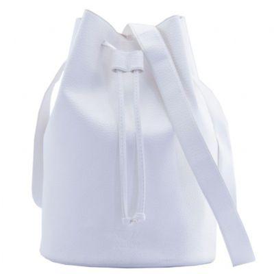 - Bolsa saco, fabricada no processo de costura eletrônica (solda eletrônica). Mede 26 cm de altura x 18,5 cm de diâmetro e é confeccionada em sintético...