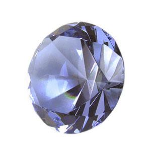 by-luciana-godoy - Peso de papel de cristal azul.
