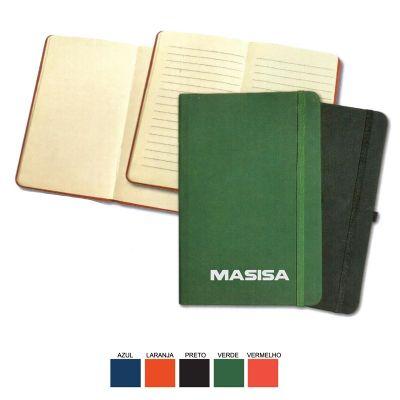 Cast Brindes - Caderneta de anotação tipo moleskine extra grande