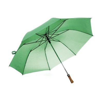 Cast Brindes - Guarda chuva com cabo de madeira botão acionador para abertura automática, armação reforçada de Aço galvanizado, Tecido: Pongee chinês, Seda crua poli...