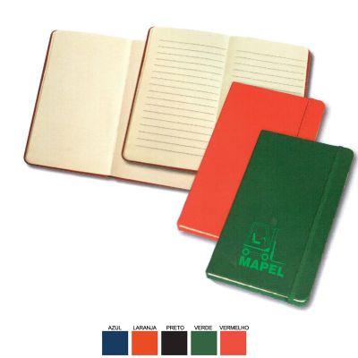 Cast Brindes - Caderneta de anotação tipo Moleskine pequena com folhas pautadas e sem pautas.
