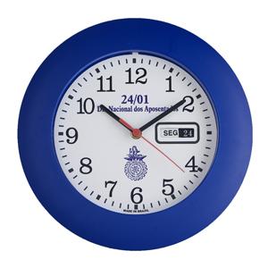 Icones Relógios - Relógio redondo com borda larga e 30 cm de diâmetro.