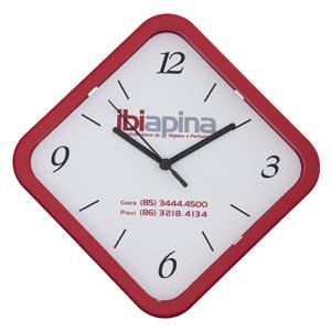 icones-relogios - Relógio losango na medida de 28 X 28 cm, disponível em diversas cores.
