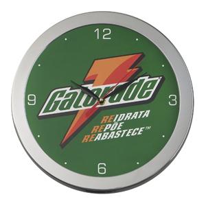 icones-relogios - Relógio de confeccionado em metal escovado, com 30 cm de diâmetro.