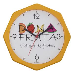 icones-relogios - Relógio oitavado nas medidas: 26 X 26 cm.