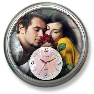 Icones Relógios - Relógio de parede com uma área interna ampliada para melhor ilustração.
