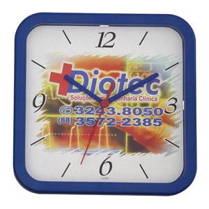 icones-relogios - Relógio quadrado, nas medidas: 22 x 22 cm.