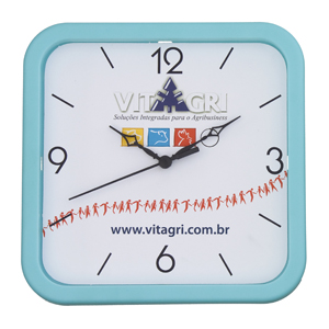 Icones Relógios - Relógio quadrado, nas medidas: 22 x 22 cm.