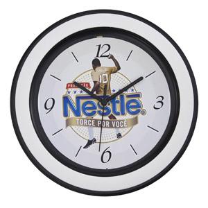 icones-relogios - Relógio redondo com aro decorativo, com 30 cm de diâmetro.