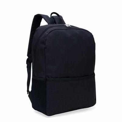 Mochila com porta notebook, em poliéster. Possui um compartimento grande com bolso interno para notebook. Bolso frontal e bolsos laterais em tela. Zíp... - Store Gift