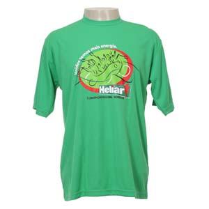 Keep Out Confecções - Camiseta gola simples, com em malha dry fitt.
