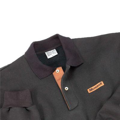 keep-out-confeccoes - Blusão de moletom flanelado com detalhes em antílope .