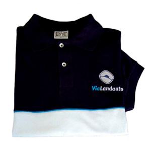 Keep Out Confecções - Camisa pólo personalizada em duas cores.