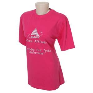 Keep Out Confecções - Camiseta feminina em meia malha 100% algodão com reforço de costura dupla na gola e ombro.