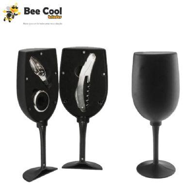 Bee Cool Brindes - Kit vinho taça