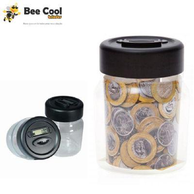 Bee Cool Brindes - Cofre contador de moedas