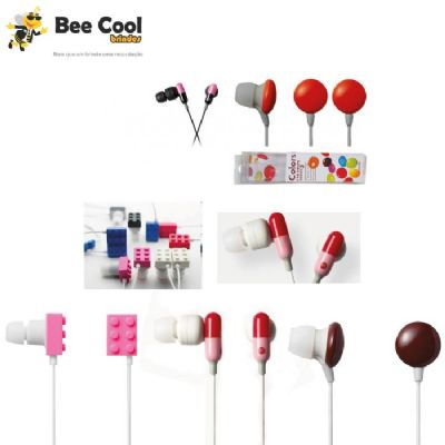 Bee Cool Brindes - Fone de ouvido formatos