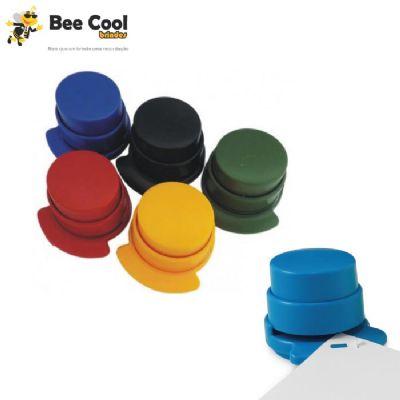Bee Cool Brindes - Sistema inovador dispensa utilização de grampos, grampeie até 5 folhas. Ideal para escritório, viagens e uso escolar. Inofensivo para manuseio infanti...