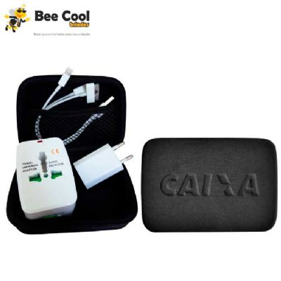Bee Cool Brindes - Kit emergencial adaptador universal